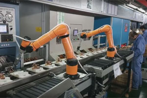 Machine operation with Aubo robot